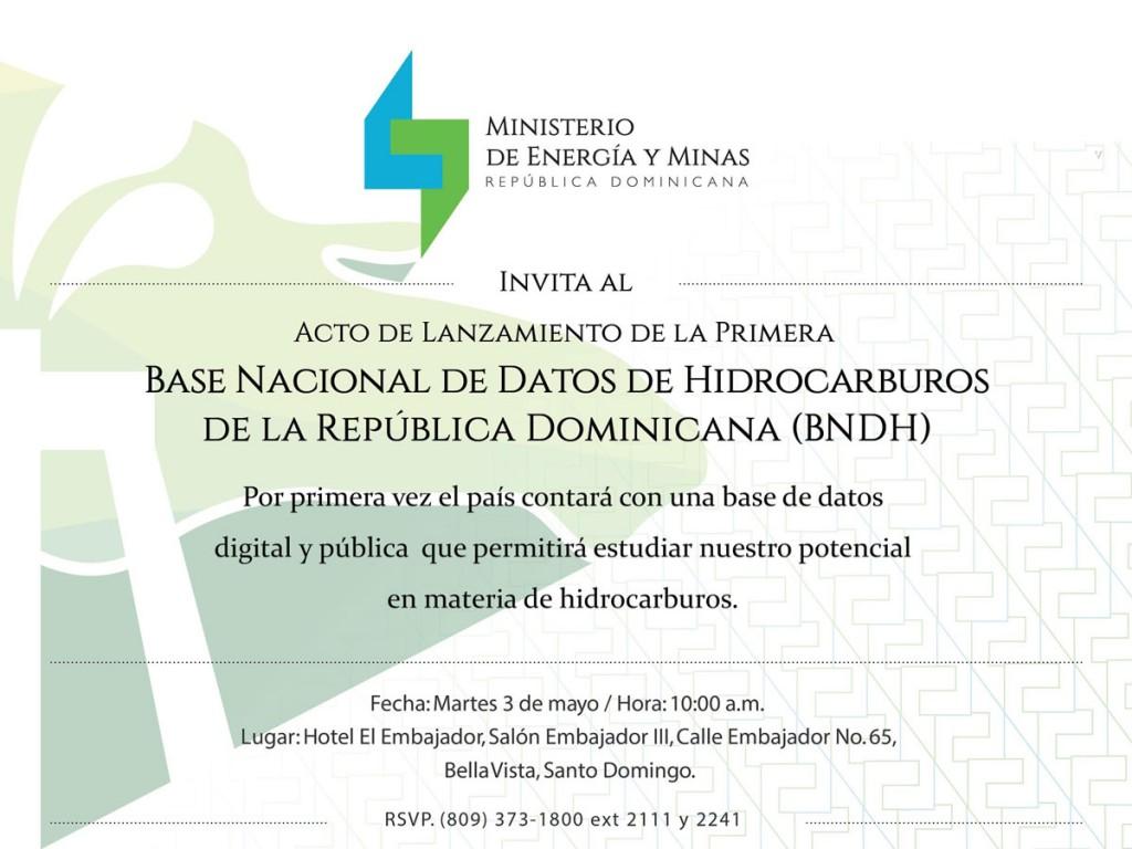 Invitación Base de Datos de Hidrocarburos