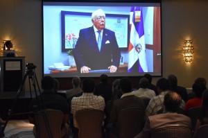 El_Ministro_Antonio_Isa_Conde_se_dirigió_a_los_presentes_a_través_de_un_vídeo_pues_se_encuentra_fuera_del_país_por_compromisos_del_MEM